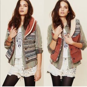 Free People Reversible Connection Corduroy Vest